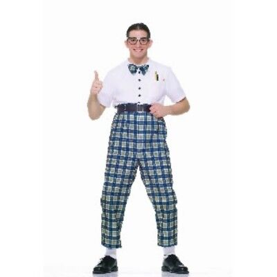 Mens Adult Funny 50s Class NERD DORK Costume Outfit