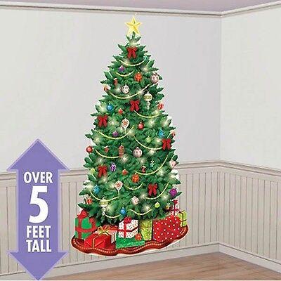 Classic Christmas Tree Scene Setter Wall Decoration - 670228 - Christmas Wall Scenes