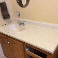 "50"" countertop with sink"