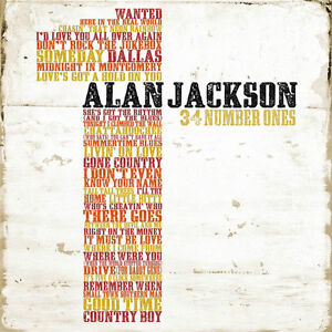 ALAN JACKSON (34 NUMBER ONES - GREATEST HITS CD SEALED + FREE POST)