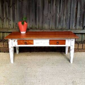 Shabby Chic Beach House Style Coffee Table W Drawers Upcycled Coogee Eastern Suburbs Preview