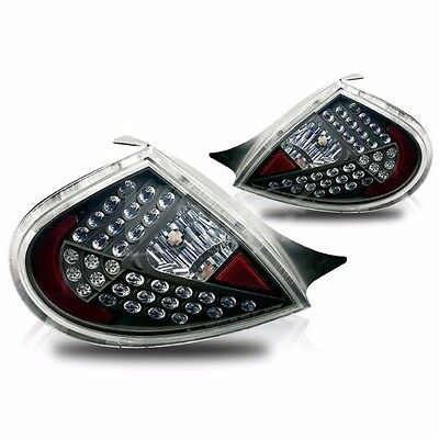 Altezza Style Black Housing Clear Lens Tail Light Lamps For 00-02 Dodge Neon
