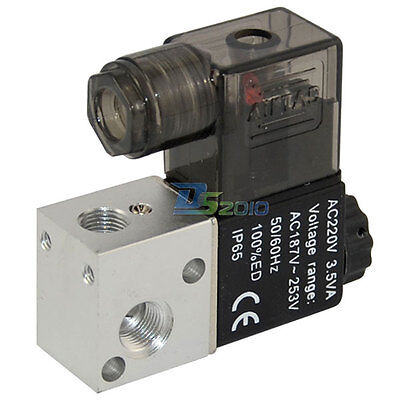 18 Ac 24v 3 Way 2 Position Pneumatic Electric Solenoid Air Operate Valve Npt