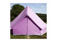 Lilac 4m Bell tent with a Zipped in Groundsheet