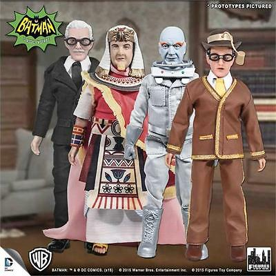 BATMAN 1966 TV SERIES 4; SET OF 4; 8 INCH ACTION FIGURES NEW LOOSE IN POLYBAG