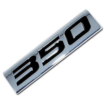 CHROME/BLACK METAL 350 ENGINE RACE MOTOR  EMBLEM BADGE LM1 SMALL BLOCK CHEVY