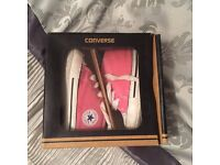 Baby girls pink converse size 3 (soft bottoms)