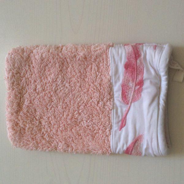 Betz 10 Waschhandschuhe Waschlappen Waschhandschuh PREMIUM 16x21cm rot schwarz