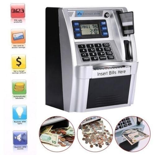 Fishboy ATM Savings Bank Toys Kids Talking ATM Savings Bank Insert Bills Perfe
