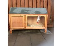 Rabbit hutch, rabbit and guinea pig for sale
