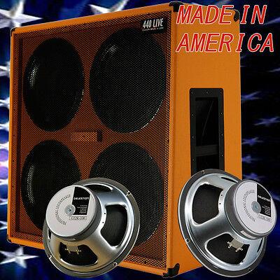 4x12 Guitar Speaker Extension Cabinet w/G12K100 Celestion Speakers Orange tolex (4x12 Celestion Speaker Cabinet)