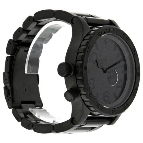 51 30 tide subdial all black mens watch a057001 nixon 51 30 tide subdial all black mens watch a057001