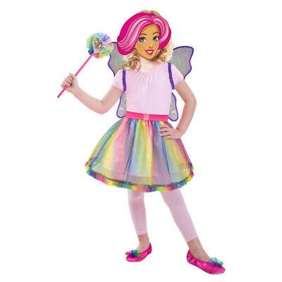 amscan 9902381 Barbie  Fee Kostüm Rainbow Accessory - Deluxe Box Gr. 98 - - Deluxe Barbie Kostüm
