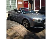 Audi A4 2.0 Tdi s line convertible 6 speed 140 Bhp metallic grey black leather only 90000 miles fsh