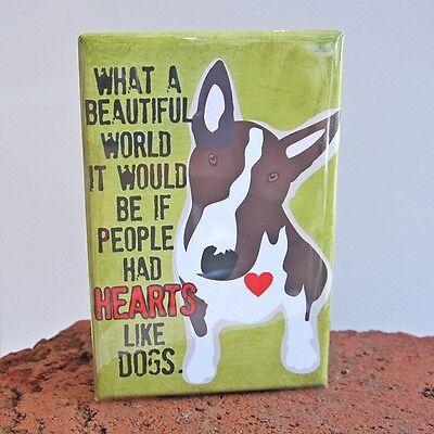 Bull Terrier Dog Heavy Duty Art Magnet - Free Shipping ASAP