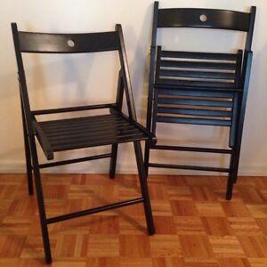 Two Terje IKEA Folding Chairs
