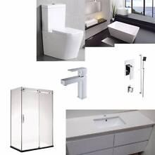 Frameless shower screen+Free standing bath tub+Stone top Vanity Moorabbin Kingston Area Preview