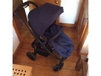 Graco Evo Travel System and isofix base (buggy, carry cot & car seat)