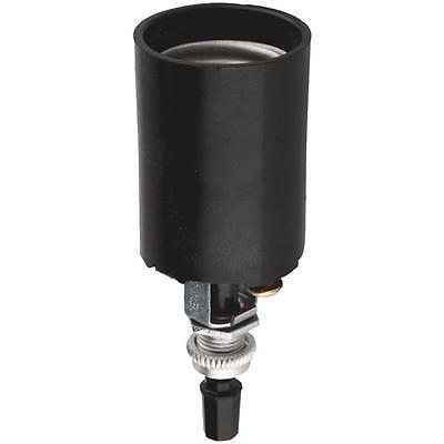 Bottom Turn Knob Socket - 100 Pk Leviton Black Bottom Turn Knob Switch Light Bulb Socket 014-04155-051
