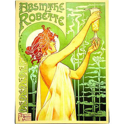 Absinthe Robette by Henri Privat-Livemont - Canvas Art - Bar Pub Vintage Decor