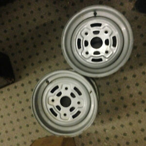 Factory Steel ATV Wheels, 12x7.5, 4/137, For Can-Am, Two Wheels
