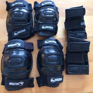Ensemble de 6 - protections pour genoux, coudes et poignets
