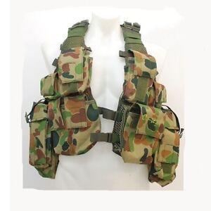Auscam DPCU Military M83 Harness Pouches Vest Field Webbing