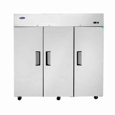 New 3 Door Locking Refrigerator On Wheels Stainless Commercial Nsf Mbf8006