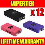 (12) VIPERTEK VTS-880 Mini Stun Gun 3 Colors Mix - Wholesale Lot