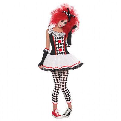 Damen Kostüm Harlequin Honey Größe S Faschung Halloween Verkleidung Horror Clown