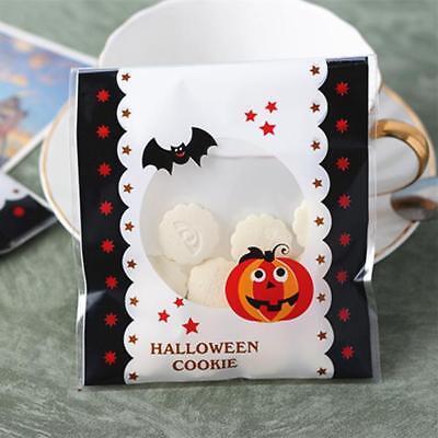 Halloween Kürbis Muster Plätzchen Verpackung Süße Cello Cellophanbeutel