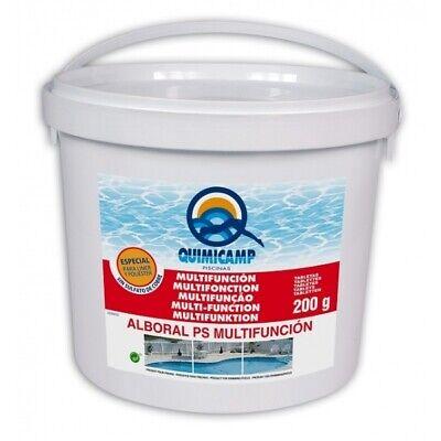 Cloro Multifunción Quimicamp pastillas 5kg sin sulfato de cobre especial LINER.