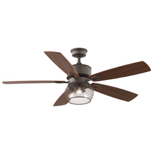 """Brand new 52"""" ceiling fan with Remote and 3LED bulbs."""