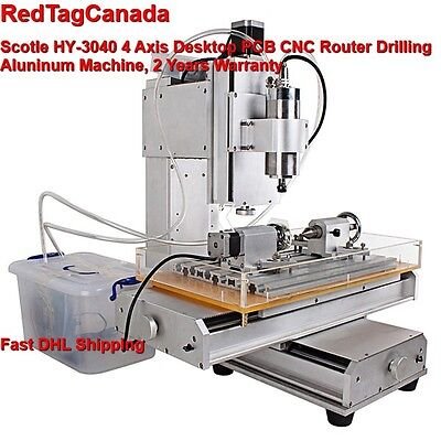 Hy-3040 4 Axis Cnc Aluninum Router Machine For Drilling Milling 2 Yrs Warranty