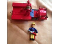 Fireman Sam Bessie toy vehicle and Sam figure