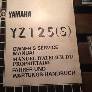 1986 Yamaha YZ125S Service Manual Regina Regina Area image 1