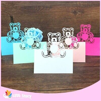 Party Table Name Cards (Christening Party Table Name Place Card Laser Cut Baby Shower Birthday)