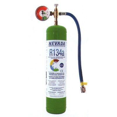 R134a DIY 1lt. - Zylinder inkl. DIY Manometer, 7,68.-€/100gr. NEU