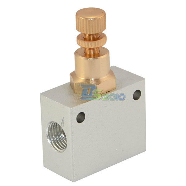 "Pneumatic shuttle valve 1/4"" NPT Air flow control throttle valve one way valve"