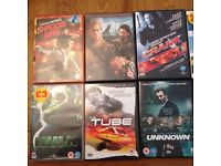 10 action and thriller DVDs £10, £1 each!