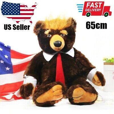 Donald Trump Bear Plush Toys Cool USA Campaign Trumpy Toys Limited Edition 65cm