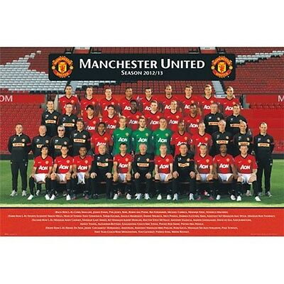 14975bfddbf Manchester United 2012 - 2013 Team Poster new English Premier League MAN U  EPL