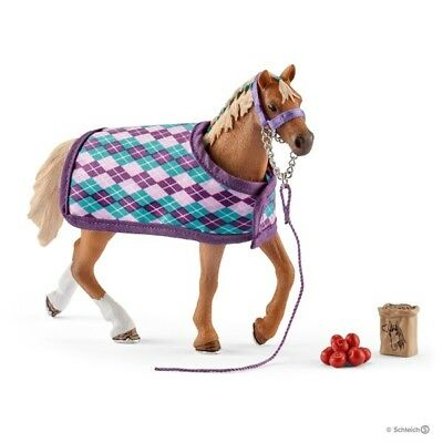 NEW SCHLEICH 42360 English Thoroughbred Mare with Blanket, Halter Horse & Treats for sale  Shipping to Canada