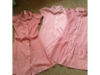 Three age 9-10 red school dresses