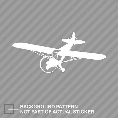 Flying Piper J3 Cub plane Sticker Die Cut Decal airplane