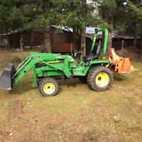 For Hire Compact Tractor