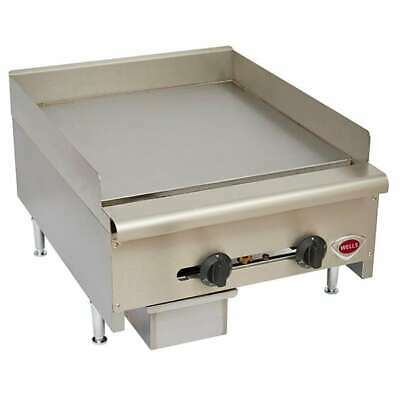 Wells Hdg-2430g 23 Wide Natural Gas Countertop Griddle