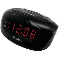 Westclox 70044A Super Loud LED Electric Alarm Clock Black