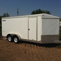 2010 Agassiz 16' Enclosed V-Nose Trailer