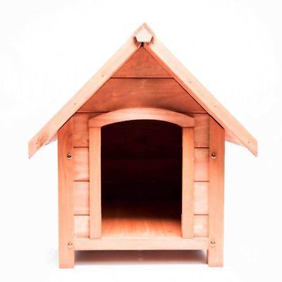 Outdoor Wooden Dog Kennel Waterproof Heat-resistant Hinge Roof - Small
